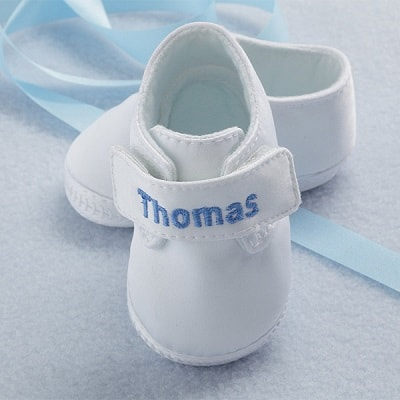 Personalized Satin Baby Shoes for Boys