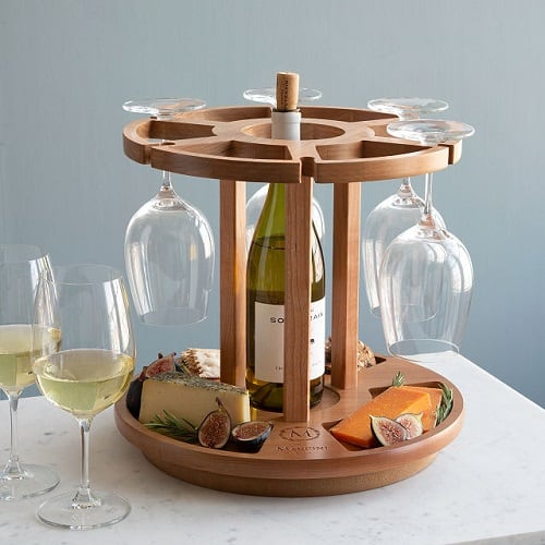Personalized Wine & Cheese Carousel - Personalized Wine Gifts