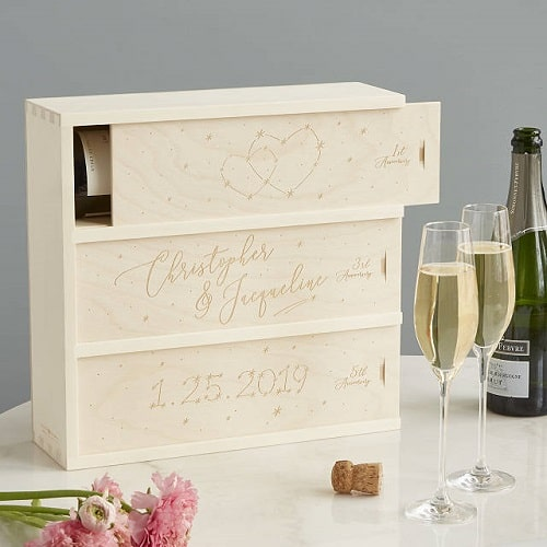 Personalized Written in the Stars Wine Box
