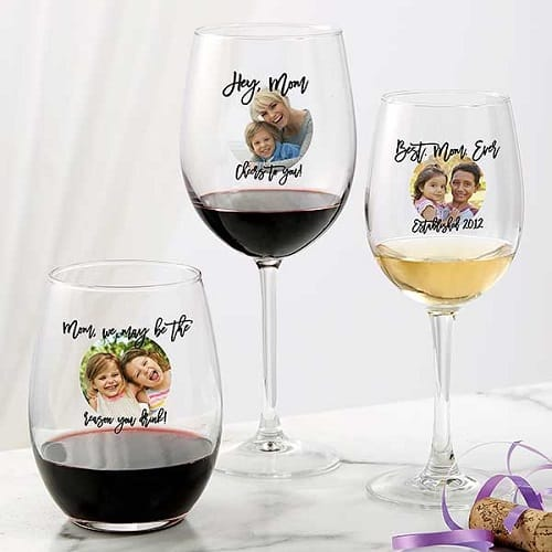 Photo Message For Her Personalized Wine Glass