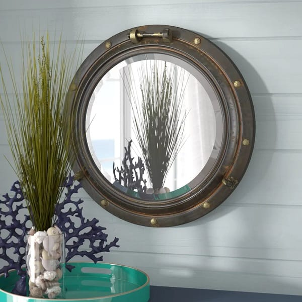 Porthole Window Shaped Mirror
