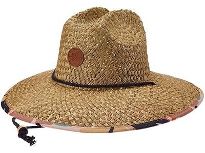 Roxy Pina To My Colada Printed Straw Lifeguard Hat