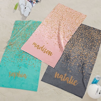 Sparkling Personalized 30x60 Beach Towel