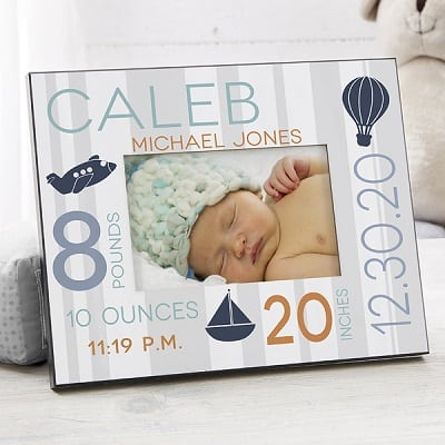Sweet Baby Boy Personalized Picture Frame - Personalized Baby Gifts
