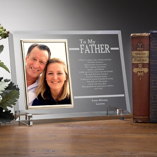 To My Dad Personalized Engraved Frame - Budget-Friendly Gifts for Dad