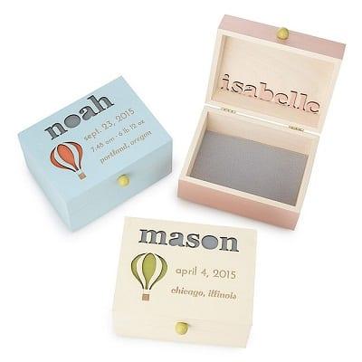 Up & Away! Personalized Baby Keepsake Box