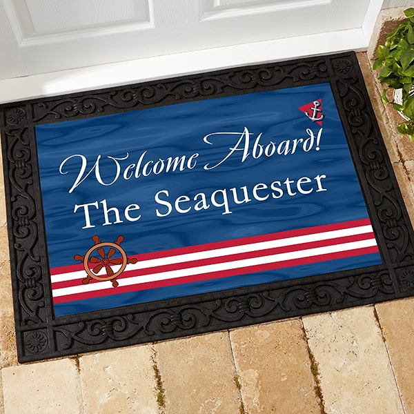 Welcome Aboard! Personalized Door
