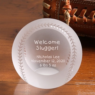 Welcome Slugger! Personalized Baseball
