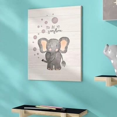 You Are My Sunshine Elephant Decorative Plaque