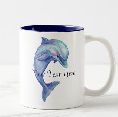 Blue Dolphin Mug
