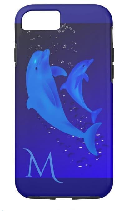 Cobalt Blue Ocean Monogram Phone Case
