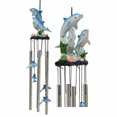 Dolphin Family Swimming Wind Chime
