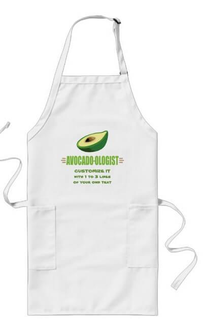 Funny Avocado Lover Long Apron