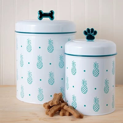 Pineapple 2 Piece Pet Treat Jar