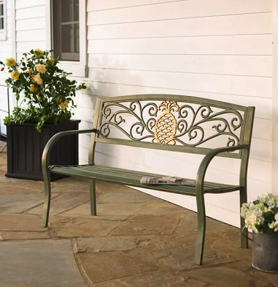 Pineapple Aluminum Garden Bench