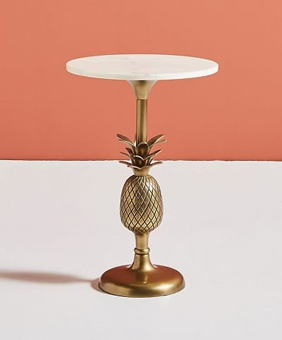 Pineapple Pedestal Side Table