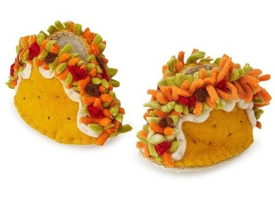 Taco Booties - Baby booties with Fun Taco Details