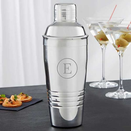 Engraved Stainless Steel Cocktail Shaker