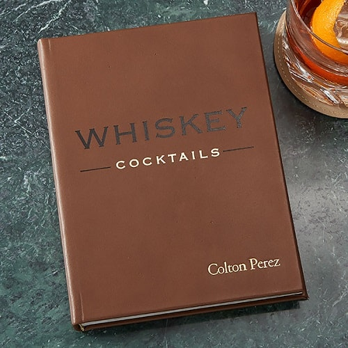 Whiskey Cocktails Personalized Leather Book