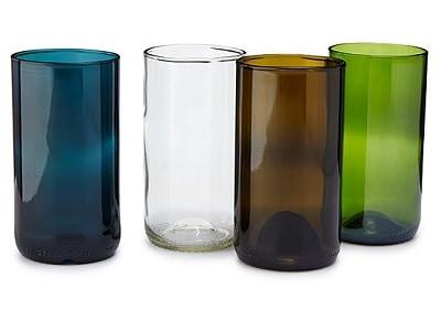 Wine Bottle Drinking Glasses - Set of 4