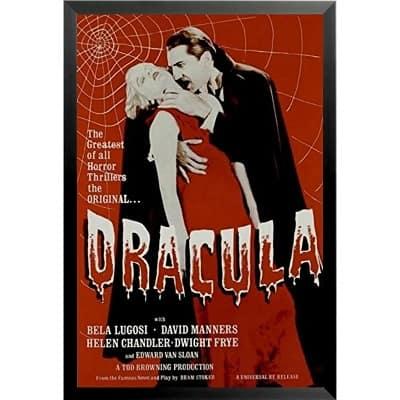 Bram Stroker Suck Your Blood Vampire' Framed Vintage Advertisement