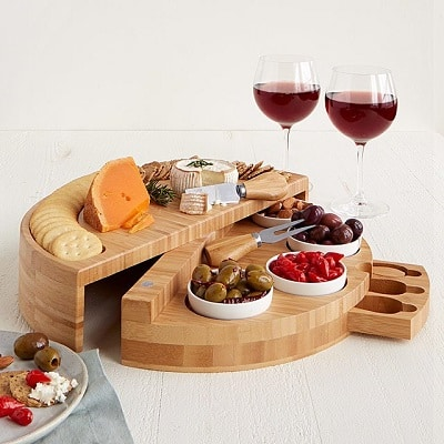 Compact Swivel Cheese and Tapas Board - Gifts for Your Boss
