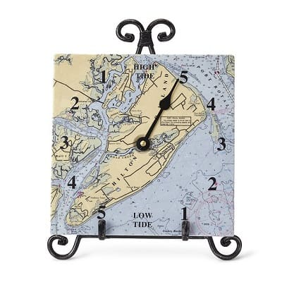 Custom Map Tide Clock - Gifts for Boaters