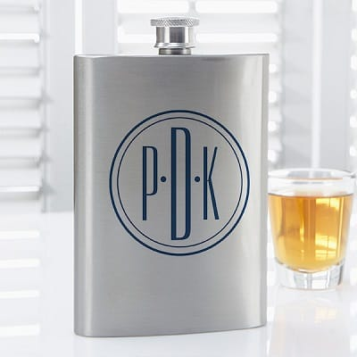 Distinguished Monogram Personalized Flask