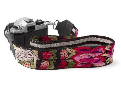 Embroidered Camera Strap