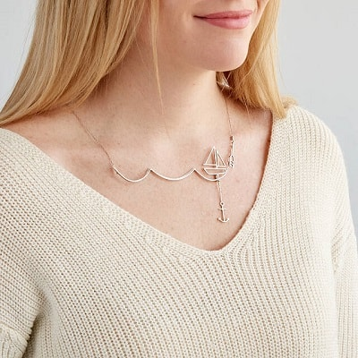 Escape and Sail Away Necklace - Gifts for Boaters