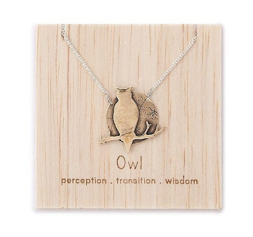 Owl Spirit Animal Necklace