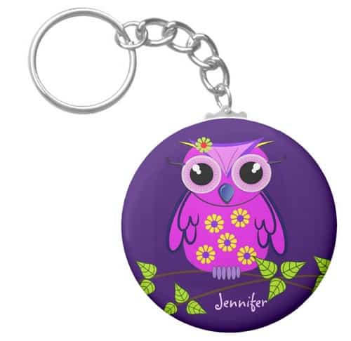Personalized Owl Key Chain