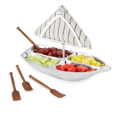 Rowboat Serving Bowl with Napkin Holder - Boating Gift Ideas
