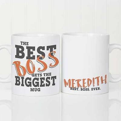 The Best Boss Personalized 30 oz. Oversized Coffee Mug