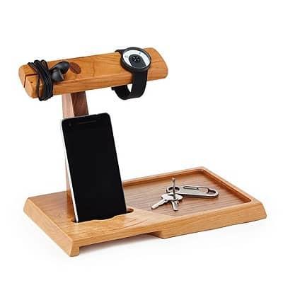 Wooden Valet & Amplifying Speaker
