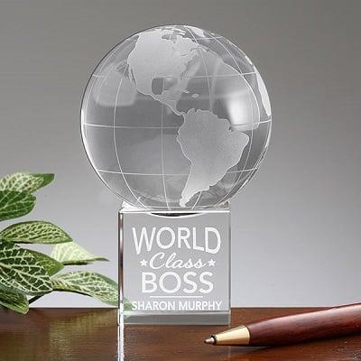 World Class Boss Personalized Globe