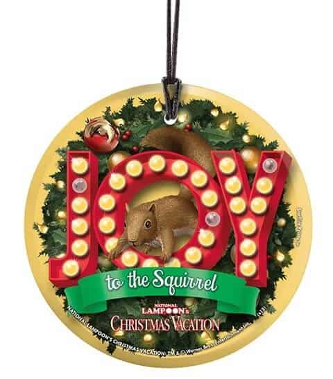 Joy To The Squirrel Christmas Ornament