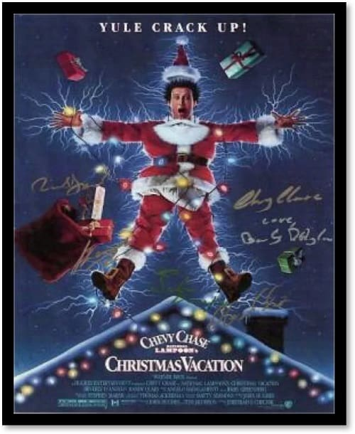 National Lampoon's Christmas Vacation Autographed Movie Poster