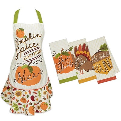 Pumpkin Spice Baking Apron Set
