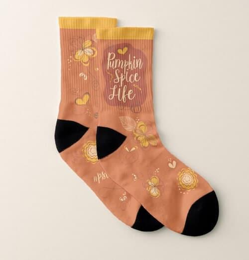 Pumpkin Spice Life Socks