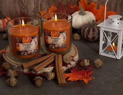 Pumpkin Spice Scented Jar Candle 1