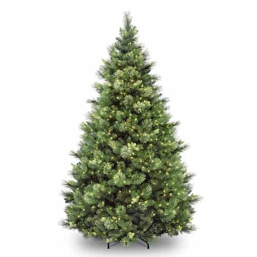 6.5-ft. Pre-Lit Carolina Pine Artificial Christmas Tree
