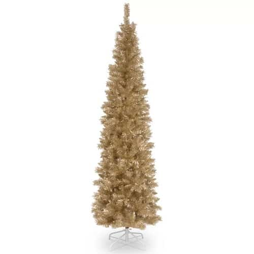 7 foot Champagne Gold Pine Artificial Christmas Tree