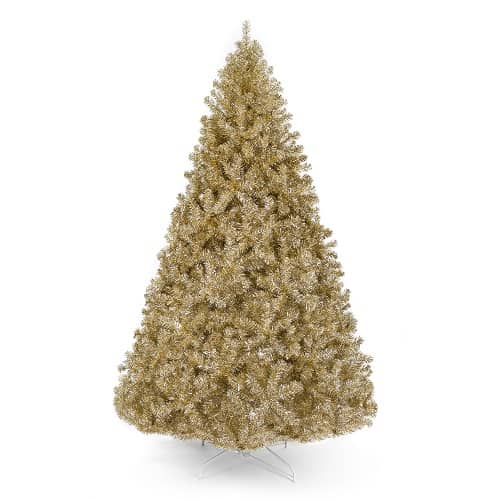7.5 ft. Champagne Gold Artificial Tinsel Christmas Tree