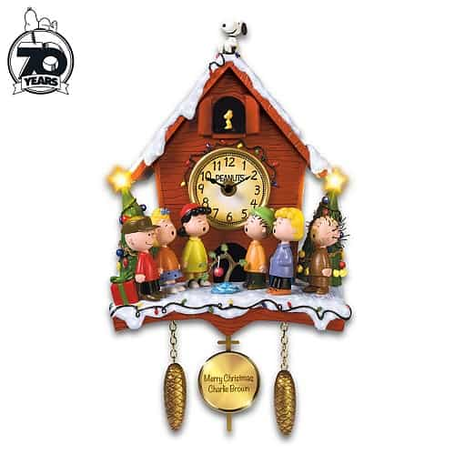 A Charlie Brown Christmas Illuminated Musical Wall Clock