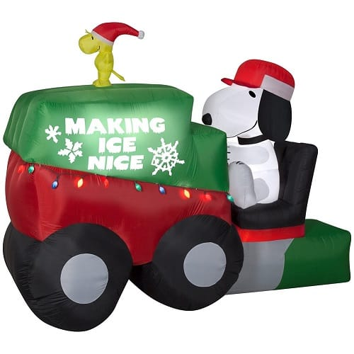 Airblown Snoopy on Ice Machine Christmas Inflatable