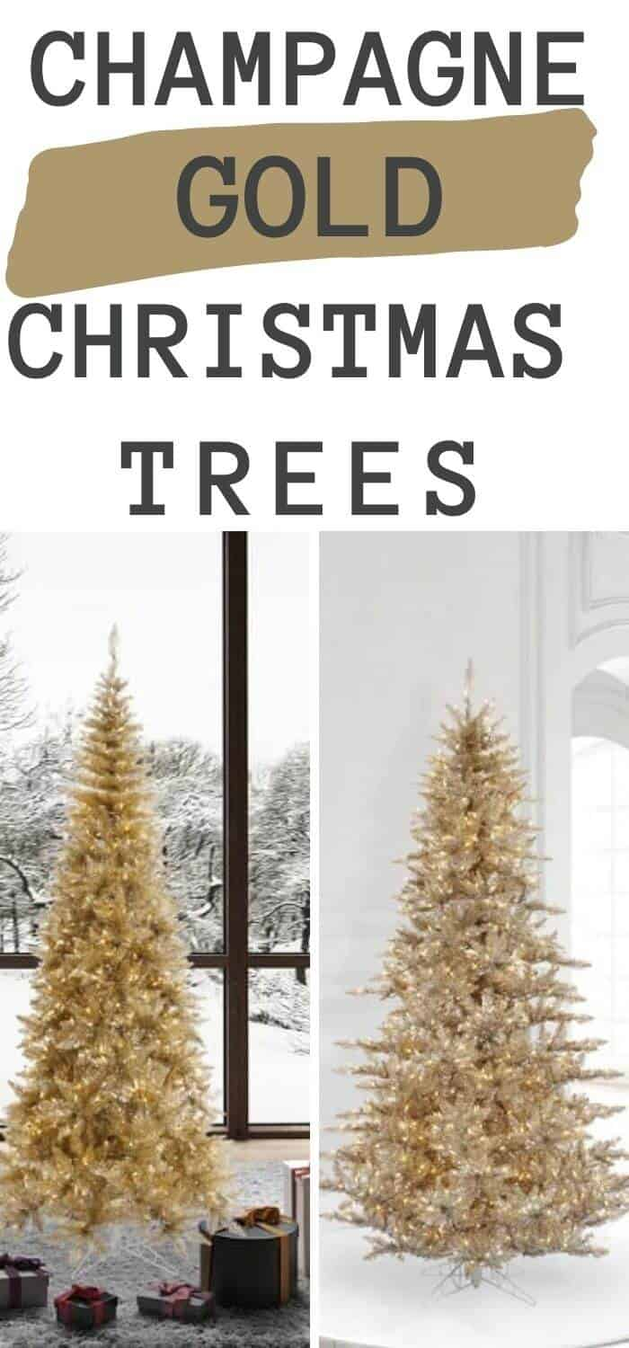 8 Best Champagne Gold Christmas Trees