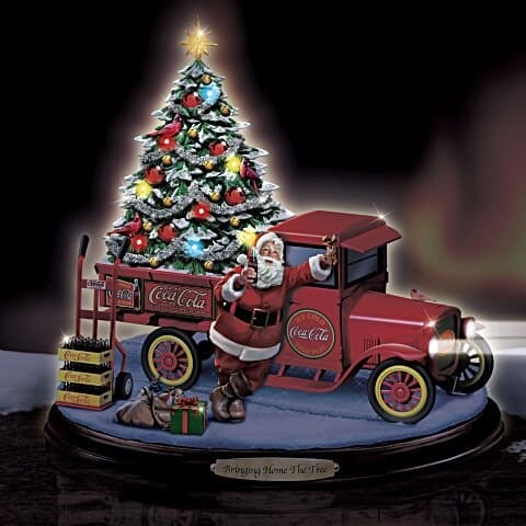 Bringing Home The Tree Lighted Musical COCA-COLA Truck