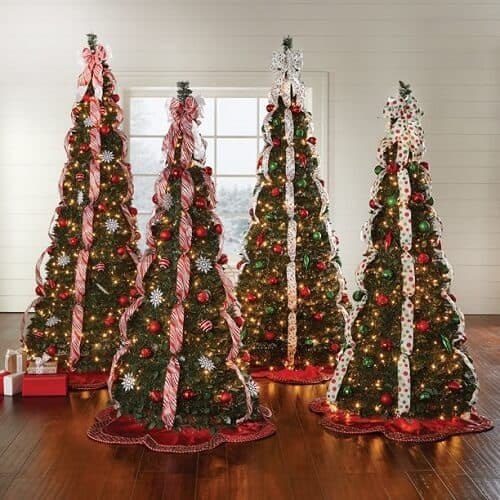 BrylaneHome Christmas Fully Decorated Pre-Lit 6-Ft. Pop-Up Christmas Tree