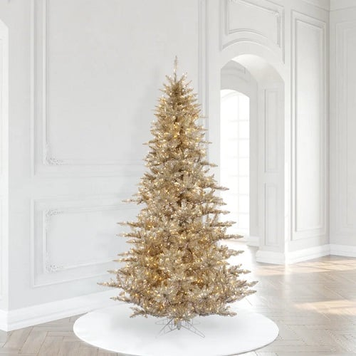 Champagne Fir 7.5' Artificial Christmas Tree with 750 Clear Lights